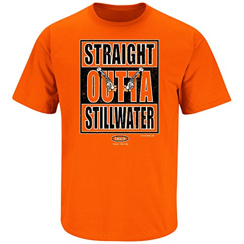 Smack Apparel Oklahoma State Football Fans. Straight Outta Stillwater Orange T-Shirt (S-5X)