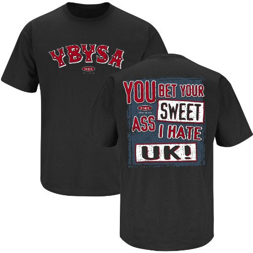 Louisville Cardinals Fans. YBYSA I Hate UK Black T-Shirt (S-3X)