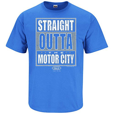 Detroit Pro Football Apparel | Shop Unlicensed Detroit Gear | Straight Outta the Motor City Shirt