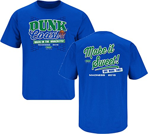 Florida Gulf Coast Fans. Back in the Brackets. Royal Blue T Shirt (Sm-3X) (Ships same day from Tampa)