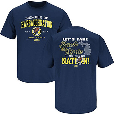 Michigan College Sports Apparel | Shop Unlicensed Michigan Gear | Member of Harbaughnation Shirt