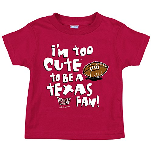 Oklahoma Sooners Fans. Too Cute to Be a Longhorns Fan Cardinal Onesie and Toddler Tee (NB-5T)