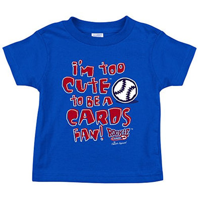 Chicago Fans. I'm Too Cute. Blue Onesie (NB-18M) or Toddler Tee (2T-4T)
