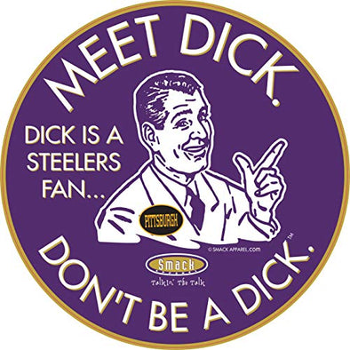 Baltimore Football Fans. Don't be a D!ck (Anti-Steelers). Purple Sticker