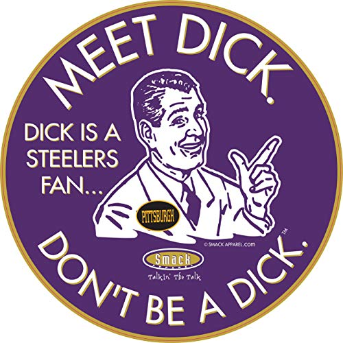 Baltimore Pro Football Apparel | Shop Unlicensed Baltimore Gear | Don't Be a Dick (Anti-Steelers) Sticker
