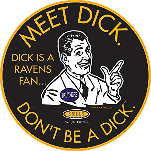 Pittsburgh Football Fans. Don't be a D!ck (Anti-Ravens). Black Sticker