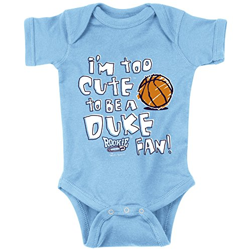 North Carolina Tarheels Fans. Too Cute Onesie (NB-18M) & Toddler Tee (2T-4T)