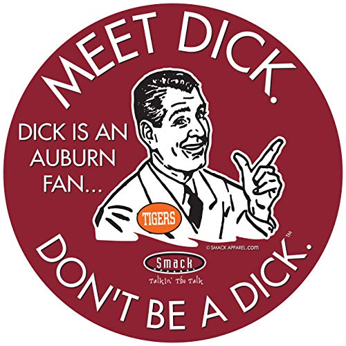 Alabama College Sports Sticker | Shop Unlicensed Alabama Gear | Don't Be a Dick (Anti-Auburn) Sticker