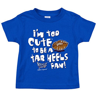 Smack Apparel Duke Blue Devils Fans. I'm Too Cute. Onesie (NB-18M) and Toddler Tee (2T-4T)