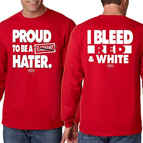Detroit Pro Hockey Apparel | Shop Unlicensed Detroit Gear | Proud to be a Blackhawks Hater (Anti-Blackhawks) Shirt
