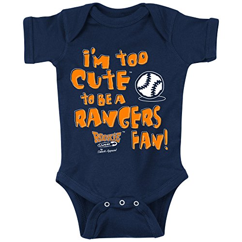 Unlicensed Houston Pro Baseball Baby Bodysuits or Toddler Tees | Too Cute to be a Rangers Fan!