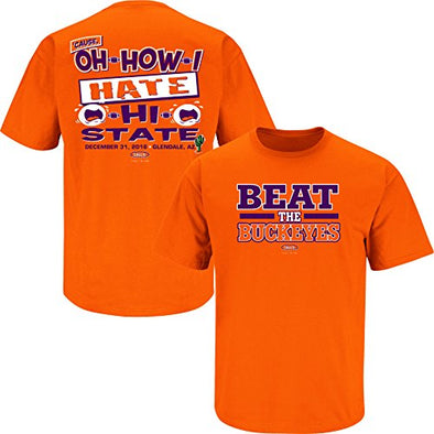 Clemson Football Fans. Beat The Buckeyes Orange T-Shirt (S-3X)