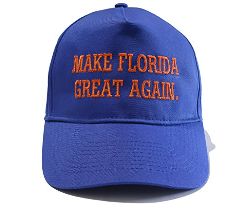 Florida Gators Fans. Make Florida Great Again Royal Blue Adjustable Hat (Adjustable)