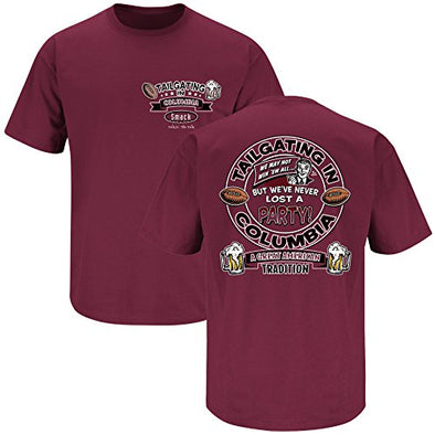 South Carolina Gamecock Fans. Tailgating in Columbia Garnet T-Shirt (S-3X)