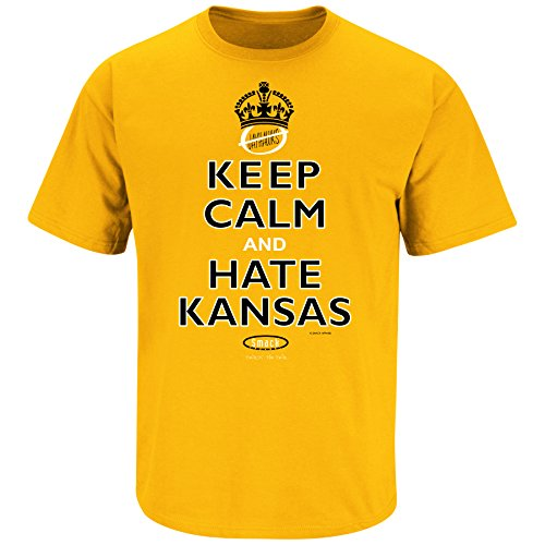 Missouri Football Fans. Keep Calm and Hate Kansas Gold T-Shirt (Sm-3X)
