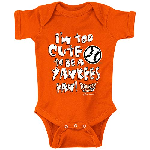 Baltimore Baseball Fans. I'm Too Cute to be a Yankees Fan! Baby Onesie or Toddler T-Shirt