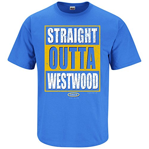 Smack Apparel UCLA Football Fans. Straight Outta Westwood. Iris T Shirt (Sm-5X)