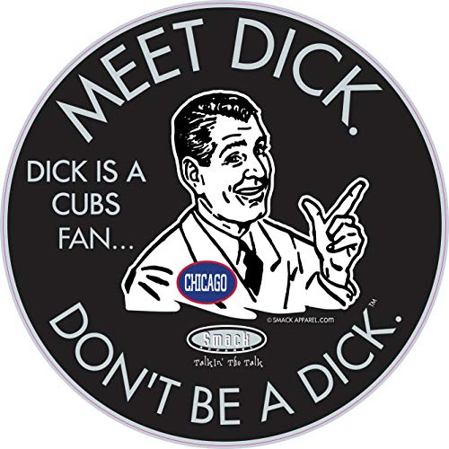Chicago Baseball Fans. Don't be a D!ck (Anti-Cubs). Black Sticker
