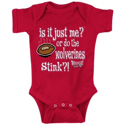 Unlicensed Ohio State College Sports Baby Bodysuits or Toddler Tees | Do the Wolverines Stink?! (Anti-Michigan)