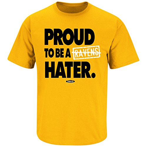 Pittsburgh Pro Football Apparel | Shop Unlicensed Pittsburgh Gear | Proud to be a Ravens Hater Shirt