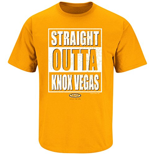 Smack Apparel Tennessee Football Fans. Straight Outta Knoxvegas. Orange T Shirt (Sm-5X)