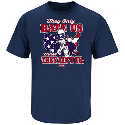 Team USA Olympics. They Only Hate Us Cause They Ain't Us. Navy T-Shirt (Sm-3X)