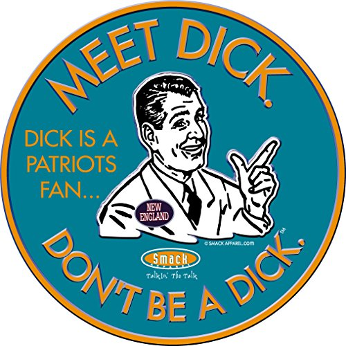 Smack Apparel Miami Football Fans. Don't Be A Dick. Embossed Metal Man Cave Sign