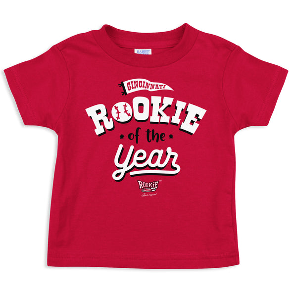Rookie of the Year | Unlicensed Cincinnati Pro Baseball Baby Bodysuits or Toddler Tees