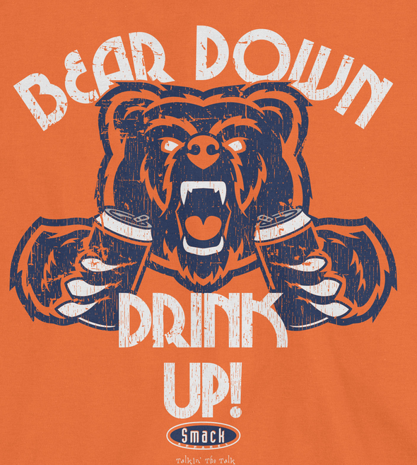 Bear Down Drink Up Smack Apparel Chicago Football Fans Sm-5X T-Shirt
