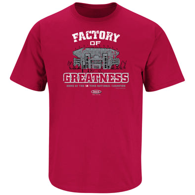 Factory of Greatness Shirt | Alabama College Apparel | Shop Unlicensed Alabama Gear