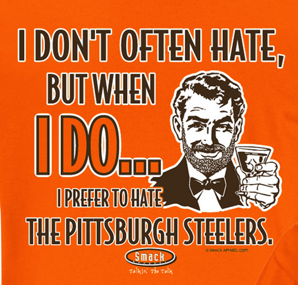Cleveland Pro Football Apparel | Shop Unlicensed Cleveland Gear | I Prefer to Hate the Steelers (Anti-Pittsburgh) Shirt