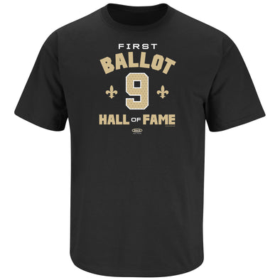 First Ballot #9 Shirt | New Orleans Pro Football Apparel | Shop Unlicensed New Orleans Gear