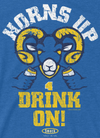 Los Angeles Pro Football Apparel | Shop Unlicensed Los Angeles Gear | Horns Up Drink On Shirt
