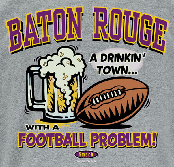 Smack Apparel Penn State Football Fans Sm-5X State College A Drinking Town with A Football Problem Gray T-Shirt