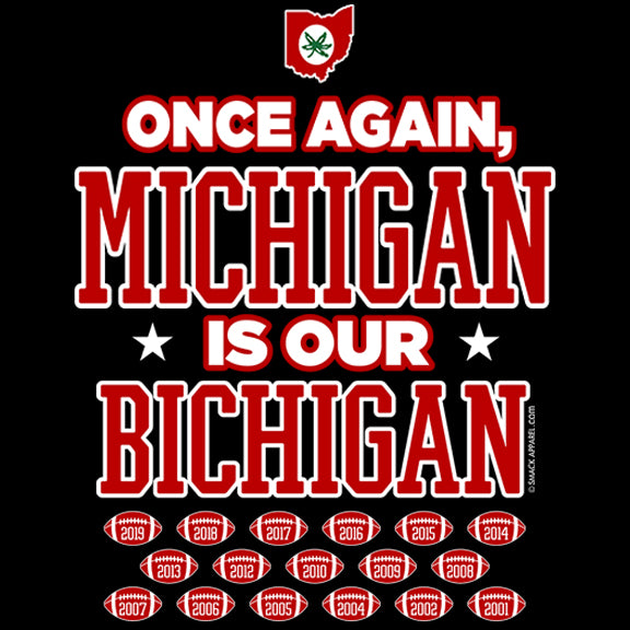 Ohio State Football Fans Once Again Michigan Is Our Bichigan T