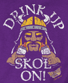 Unlicensed Minnesota Pro Football Baby Bodysuits or Toddler Tees | Drink Up Skol On