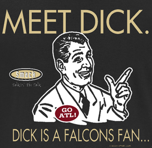 New Orleans Pro Football Apparel | Shop Unlicensed New Orleans Gear | Don't Be a Dick (Anti-Falcons) Shirt