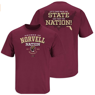 Norvell Nation | Florida State Football Fans | Garnet Norvell Nation Shirt