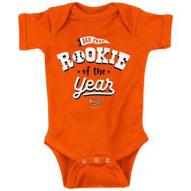 San Francisco Rookie of the Year | Unlicensed San Fran Pro Baseball Baby Bodysuits or Toddler Tees