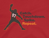 Gronk | Catch. Touchdown. Spike. Repeat. Soft-Style Shirt | Tampa Pro Football Apparel | Shop Unlicensed Tampa Gear