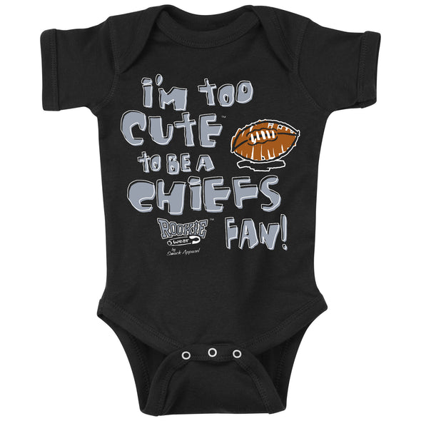 Unlicensed Oakland Pro Football Baby Bodysuits or Toddler Tees | Too Cute to be a Chiefs Fan