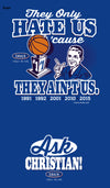 Duke Basketball Fan Apparel | They Hate Us Cause They Ain't Us Shirt | Buy Gear for Duke Fans