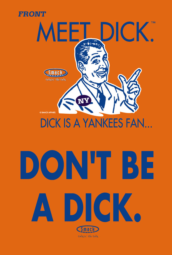 New York (NYM) Pro Baseball Shirt | Buy Anti-Yankees Rivalry Gear | Meet Dick (Anti-Yankees)