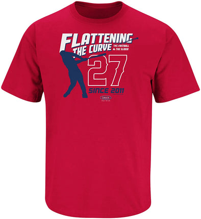 Los Angeles Baseball Fans. Flattening The Curve  Shirt