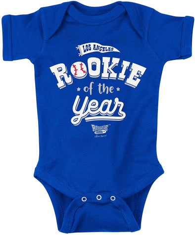 LA Rookie of the Year | Unlicensed Los Angeles Pro Baseball Baby Bodysuits or Toddler Tees