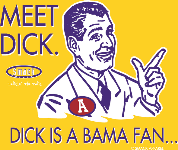 Louisiana State Football Fans. Don't be a Dick (Anti-Alabama) T-Shirt