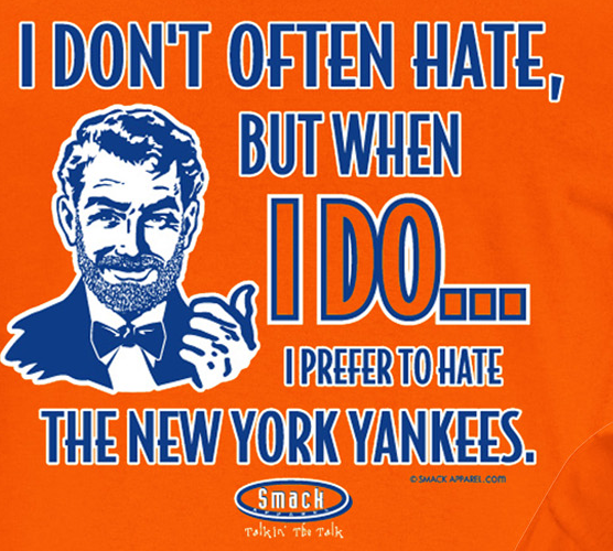 New York Pro Baseball Apparel | Shop Unlicensed New York Gear | Prefer to Hate the New York Yankees Shirt