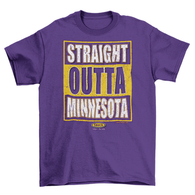 Minnesota Pro Football Apparel | Shop Unlicensed Minnesota Gear | Straight Outta Minnesota Shirt