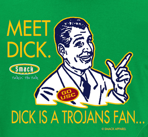 Notre Dame Football Fans. Don't Be A Dick (Anti-USC) T-Shirt