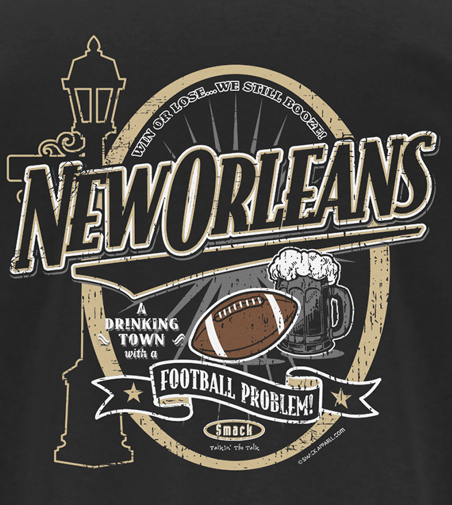 A Drinking Town with a Football Problem Black T-Shirt Sm-5X New Orleans Football Fans